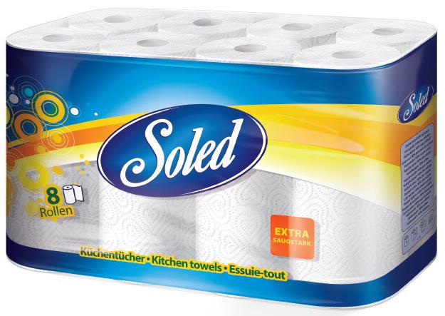 50745 - Soled Küchentücher 2-lagig, 8x50 Blatt