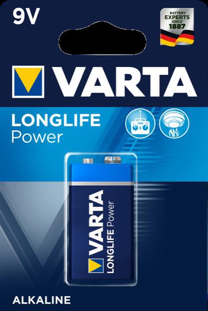 52716 - Varta Batterien 9V Block 1er- High Energy