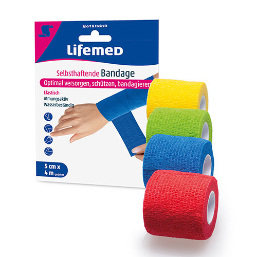 99248 - Self-adhesive bandage, 4m x 5cm, mixed colors